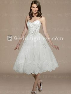 Tea Length Wedding Dress by Maggie Sottero style Isadora Ann.