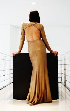 LYS Boutique - Vestido Longo - Corporeum -Dourado