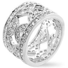 Cubic Zirconia Hill Eternity Ring – Ultra Lovely