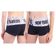 New York Yankees Women's Navy Blue Knit Cameo Short