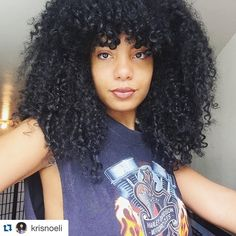 Yes! Sissy hair love#NRSistafeature @krisnoeli ・・・ Something new  #curlybangs #naturalhair