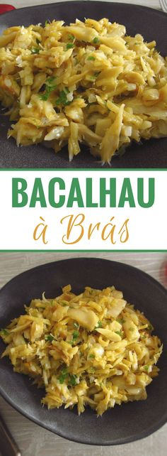 If you like cod you will simply love this recipe! The simple way to prepare and the delicious aspect make this recipe ideal to serve in a dinner. Bacalhau A Bras Recipe, Bacalhau Recipes, Cod Fish Recipes, Seafood Recipes, Cooking Recipes, Best Cod Recipes, Portuguese Recipes, Portuguese Food, Seafood Dishes