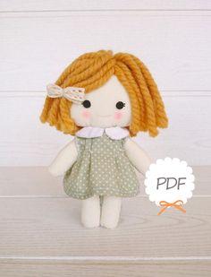 Muñeca de trapo. PATRONES. por AidaZamora en Etsy