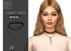 Simpliciaty: Eternity choker • Sims 4 Downloads