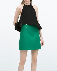 Image 2 of BUTTONED A-LINE SKIRT from Zara