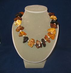Amber multi colored Baltic amber necklace by jeweledhorizons, $175.00