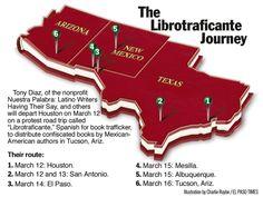 Mappa del viaggio dei Librotraficantes