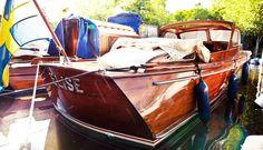 vintage, wooden, boat, Elise