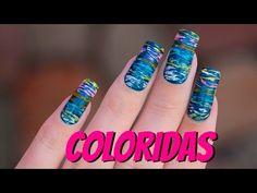 DECORAÇÃO DE UNHAS COLORIDAS - Ideia Rosa - YouTube