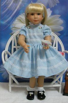 """Wonderful World of Dolls - Fits 18"""" Kidz 'n' Cats Doll ... Time for Tea- Powder Blue Dress ... D819, $16.50 (http://www.wonderfulworldofdolls.biz/fits-18-kidz-n-cats-doll-time-for-tea-powder-blue-dress-d819/)"""