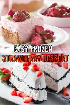 ★★★★★ 999 Frozen Strawberry - Food and drink - Frozen Fruit Recipes Vegetarian Cookbook, Vegetarian Recipes Easy, Cooking Recipes, Simple Recipes, Meal Recipes, Strawberry Desserts, Summer Desserts, Strawberry Quotes, Vegan Dessert Recipes