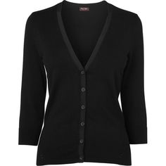 Phase Eight Elin cardigan ($46) ❤ liked on Polyvore featuring tops, cardigans, black, clearance, three quarter sleeve cardigan, three quarter length sleeve tops, 3/4 sleeve cardigan, rayon cardigan and fitted tops V Neck Cardigan, Black Cardigan, Phase Eight, Cardigans, Sweaters, Workout Tops, V Neck Tops, Black Tops, Black Button