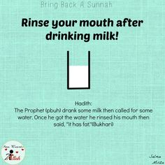 Bring back a sunnah after drinking milk. Islam Hadith, Islam Muslim, Allah Islam, Islam Quran, Beautiful Islamic Quotes, Islamic Inspirational Quotes, Quran Verses, Quran Quotes, Hindi Quotes