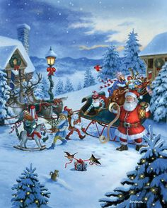Christmas Eve Jigsaw Puzzle | 1000 Piece Puzzles | Vermont Christmas Co. Vt…