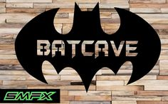 Batman Man cave sign Mancave metal wall art sign by SCHROCKMETALFX