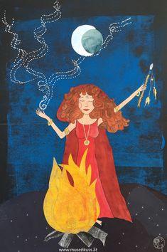 Erwecke das Feuer in dir und erwache - Vollmond Botschaft - MusenKuss Muse, Disney Characters, Fictional Characters, Disney Princess, Art, Full Moon, Fire, Art Background, Kunst