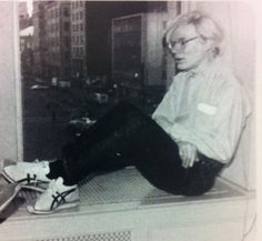 AndyWarhol wearing OnitsukaTiger shoes.
