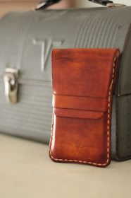 VanHook & Co.: Hand Stitched Leather Cell Phone Wallet