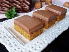 Raspberrybrunette: Mrkvovo-orechové rezy s jednoduchým čokoládovým kr. Vanilla Cake, Nutella, Cheesecake, Cooking, Recipes, Food, Cakes, Basket, Per Diem