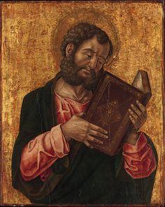Bartolomeo Vivarini   A San (Marco) Reading   San (Marco) Reading  Artista:Bartolomeo Vivarini (italiana, Venezia attivo 1450-1491) Data:circa. 1470