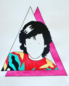 J ミ A N__M I C H ミ L__J A R R ミ 🌈🔼 #illustration #drawling #color #music #triangle #jeanmicheljarre #electronic #shockingpink #80s #bushido #vintage #hairstyle #art #minimal #pop #ポップアート #色 #アート #ファッション #音楽 #三角形 #alessiovitelli