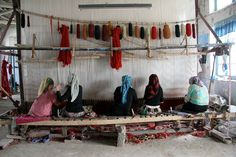 Carpet factory in Khotan by ericennotamm, via Flickr