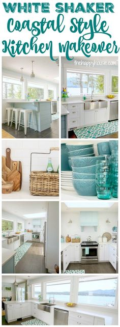 Our Coastal Style White Shaker Kitchen Makeover {the Reveal