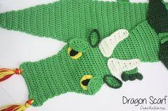 READY TO SHIP Dragon Crochet Scarf / Dragon by CrochetionsbyShell