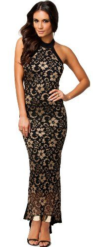 made2envy Halter Lace Mermaid Style Long Evening Dress (M, Black/Gold) made2envy http://www.amazon.com/dp/B00JTF6ZQK/ref=cm_sw_r_pi_dp_ygNoub0DXRPFN