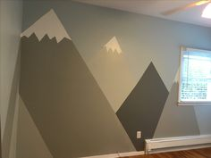 Mountain theme nursery mural