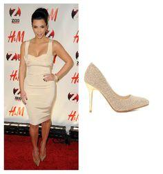 Kim Kardashian Exclusive Gold High Heeled Shoes