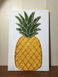 Pineapple String Art Sign by StringsbySamantha