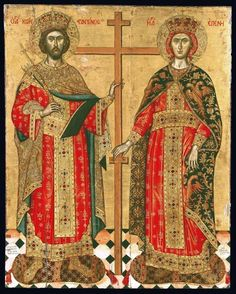 Saints Constantine and Helena Creator: Emmanuel Tzanes Date: Second half 17th century Dimensions (cm): 131 x 103 At the Byzantine and Christian Museum of Athens...