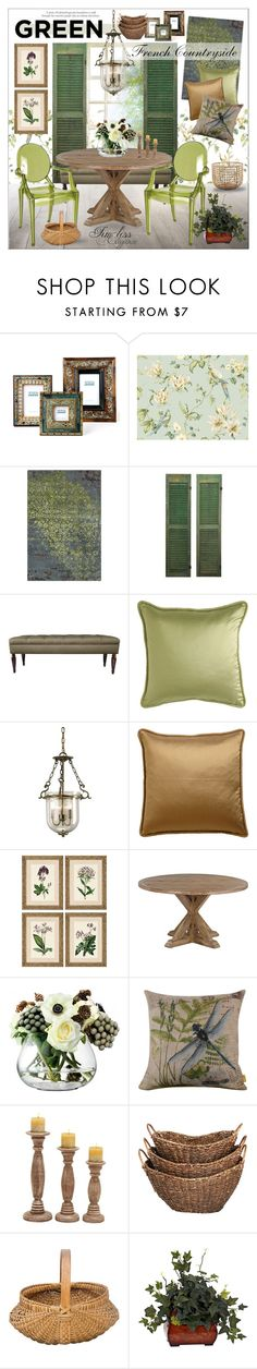 """""""Chic Frencj Countryside"""" by szaboesz ❤ liked on Polyvore featuring interior, interiors, interior design, home, home decor, interior decorating, Two's Company, York Wallcoverings, Chandra Rugs and Ethan Allen"""
