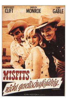 The Misfits, German Movie Poster, 1961 Premium Poster