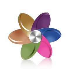 27 Style Rainbow Metal Flower Fidget Spinner Colorful Hand Spinner Round Adult Stress Relieve Gyro Best Gift Toy For Child Kid