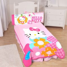Your daughter will love this super cute and cozy Hello Kitty® blanket, made with luxuriously soft microraschel fabric. It's a great piece to make the Hello Kitty comforter set come together, and works standalone as a delightful accent. Wedding Gift Registry, Comforter Sets, Fine China, Floor Chair, Bedding Shop, Bath Towels, Bean Bag Chair, Hello Kitty, Kids Room