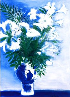 Andre Brasilier (France b.1929)Vase aux fleurs blanchesoil on canvas 100 × 73 cm