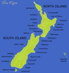 cool New Zealand Map Tourist Attractions