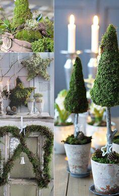 julpynt granar mossa jul pynta pyssla inspiration tips ide julfint växt