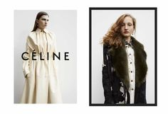 ELLE Loves...the new Céline campaign photographed by Juergen Teller featuring models Karly Loyce, Marland Backus, Agnes Nieske Abma and Lisa Helene Kramer.