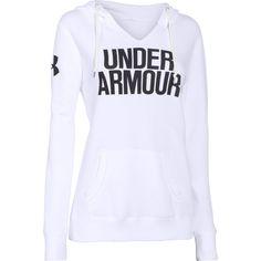 UA Favorite Fleece Word Mark Womens Hoodie (White)