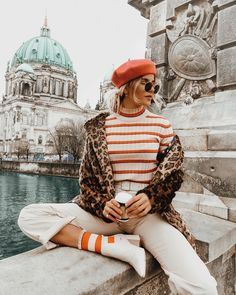 Stripes and cheetah, European fashion Source by bitbybrit Winter fashion Fashion Blogger Style, Look Fashion, Fashion Bloggers, Fall Fashion, Fashion Women, Fashion Websites, Mode Outfits, Fashion Outfits, Fashion Trends
