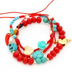 Red+Turquoise+Skull+Heart
