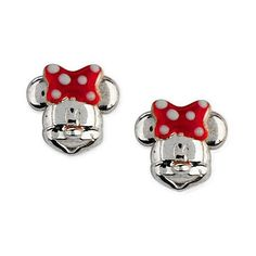 Disney Sterling Silver Mickey or Minnie Mouse Stud Earrings (€20) ❤ liked on Polyvore featuring jewelry, earrings, disney, sterling silver stud earrings, sterling silver jewellery, mouse earrings and disney earrings