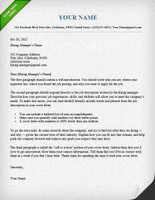 Cover Letter Template Modern | Cover Letter Template | Pinterest ...