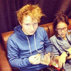 Ed sheeran and Briony Gaffer