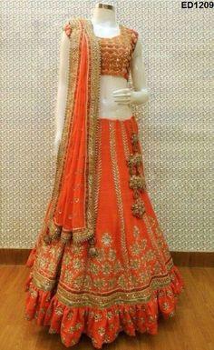 Deepawali Heavy Embroidery Anarkali Lehenga Design Gherdaar Anarkali Lehenga Top