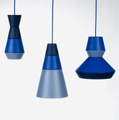 ILI-ILI pendant lights from Croatia by Grupa. The owner can mix'n'match components that come in different shapes and colours.