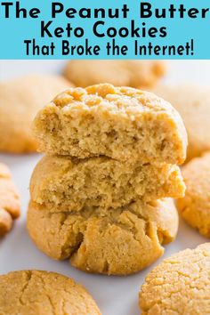 Peanut butter keto cookies that actually taste good. Finding a delicious gluten-. - Peanut butter keto cookies that actually taste good. Finding a delicious gluten-free, low carb cook - Keto Cookies, Keto Peanut Butter Cookies, Sugarless Cookies, Coconut Flour Cookies, Sugar Free Cookies, Coconut Flour Desserts, Almond Butter Keto, Diabetic Cookies, Keto Chocolate Chip Cookies